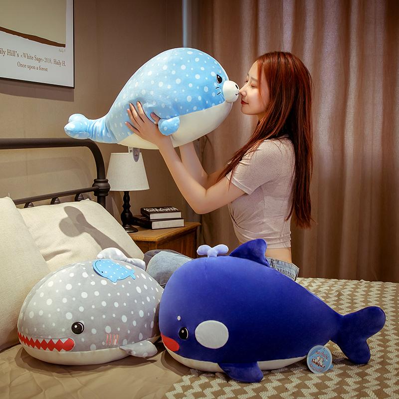 可爱超软海豚毛绒玩具娃娃公仔抱枕女生睡觉玩偶布床上陪你睡懒人