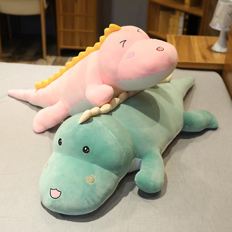 可爱恐龙大公仔玩偶毛绒玩具睡觉抱枕长条枕送女友七夕情人节礼物