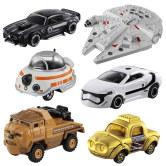 TOMY多美卡星球大战合金车模型仿真小汽车黑武士白兵BB8玩具套装