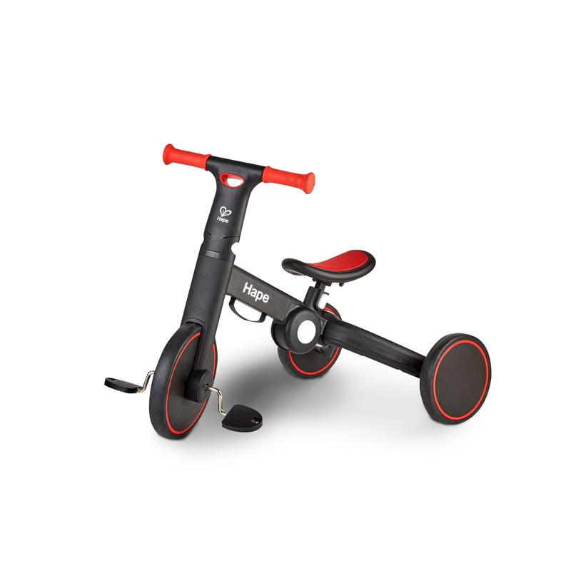 Hape三合一 儿童平衡车 踏行车三轮车宝宝2-6岁无脚踏双轮滑步