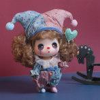 冬己小丑娃娃仿真精致女孩搪胶娃娃玩具换装娃娃礼物迷糊娃娃
