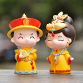 清宫系列摆件盲盒宫廷皇上皇后可爱卡通人偶皇阿玛皇额娘蛋糕装饰