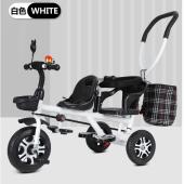 双人儿童三轮车双胞胎宝宝脚踏车1-7岁婴幼儿手推车大号二胎童车