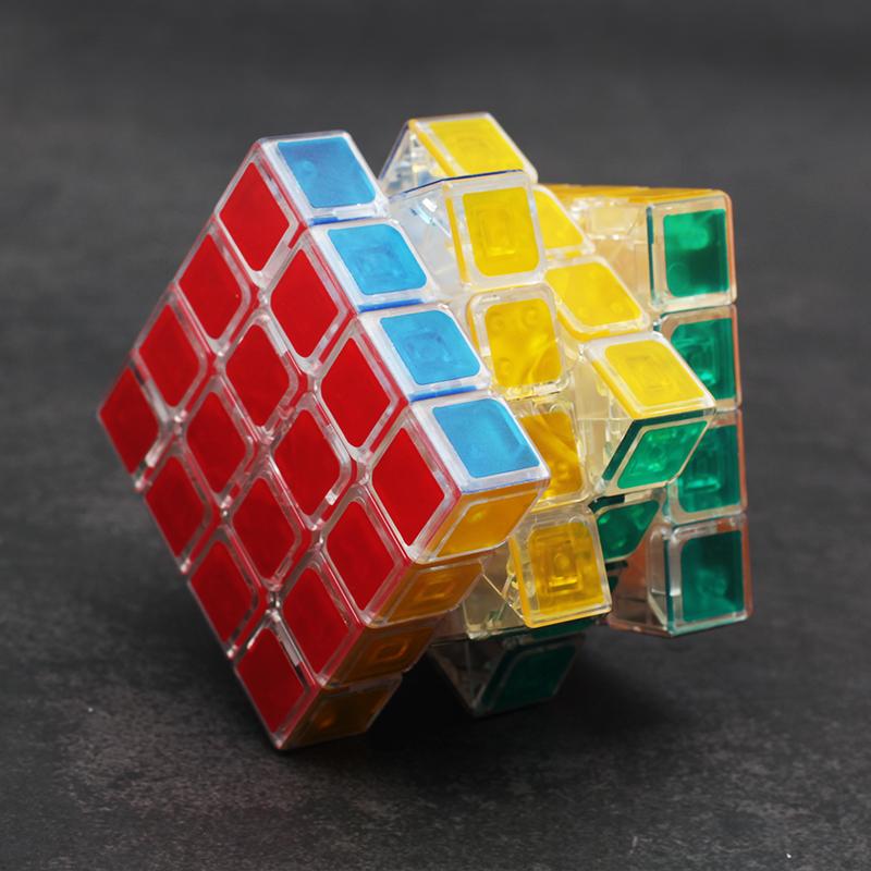 初学者透明魔方二阶三阶四阶异形金字塔透明魔方套装全套组合