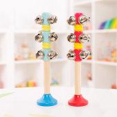福孩儿木制手摇铃婴儿童幼儿园串铃乐器男女孩宝宝木质玩具响铃铛