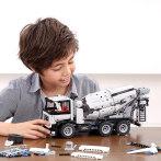 小米米兔积木工程搅拌车积木模型儿童汽车男孩益智组装智力玩具