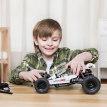 小米米兔积木沙漠赛车儿童越野车模型汽车男孩益智组装拼插玩具
